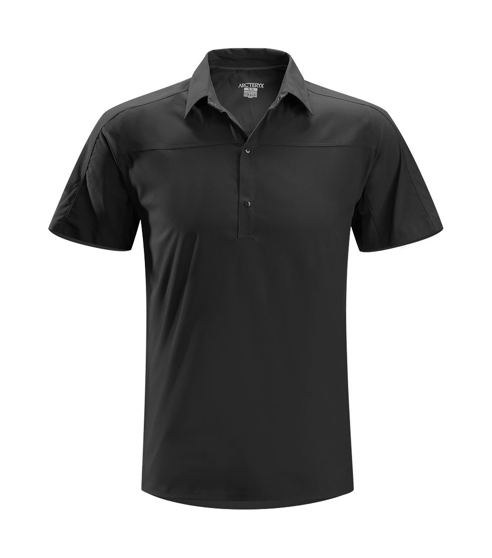Arcteryx Men Black Adventus Comp Polo SS - New