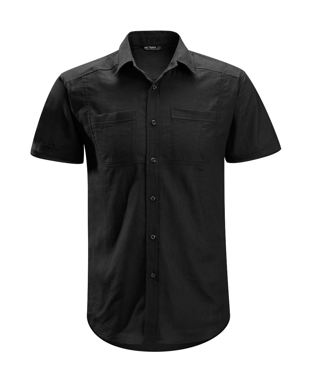 Arcteryx Men Black Ravelin Shirt SS - New