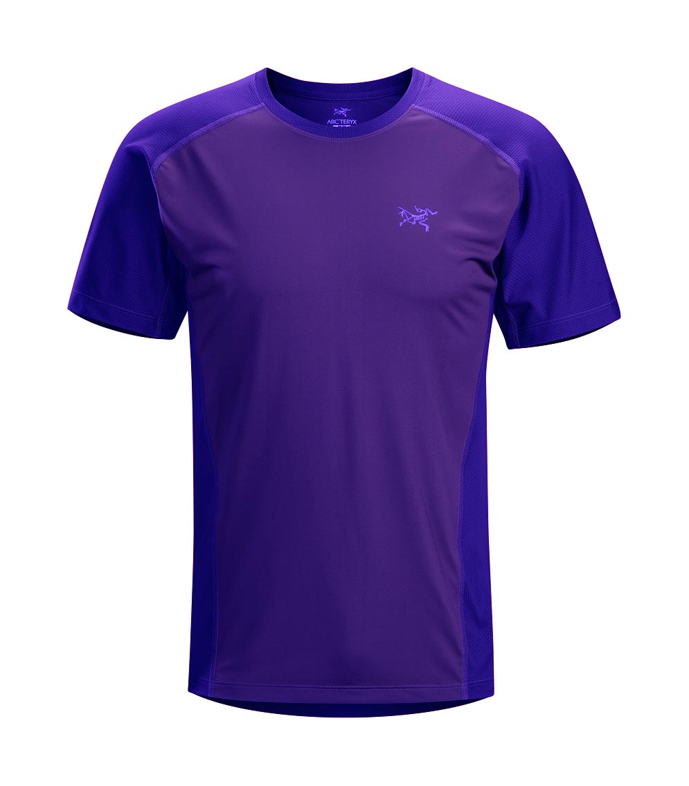 Arcteryx Men Blue Galaxy Velox Comp Crew