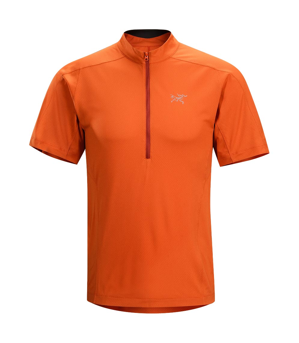 Arcteryx Men Naranja Velox Zip Neck