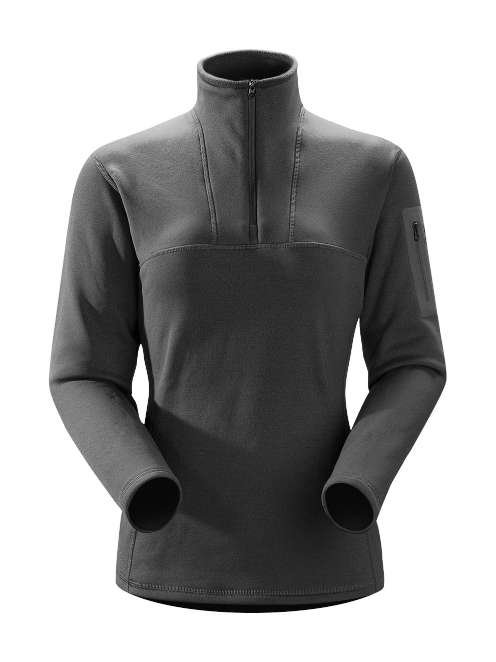 Arcteryx Women Black Rho AR Top