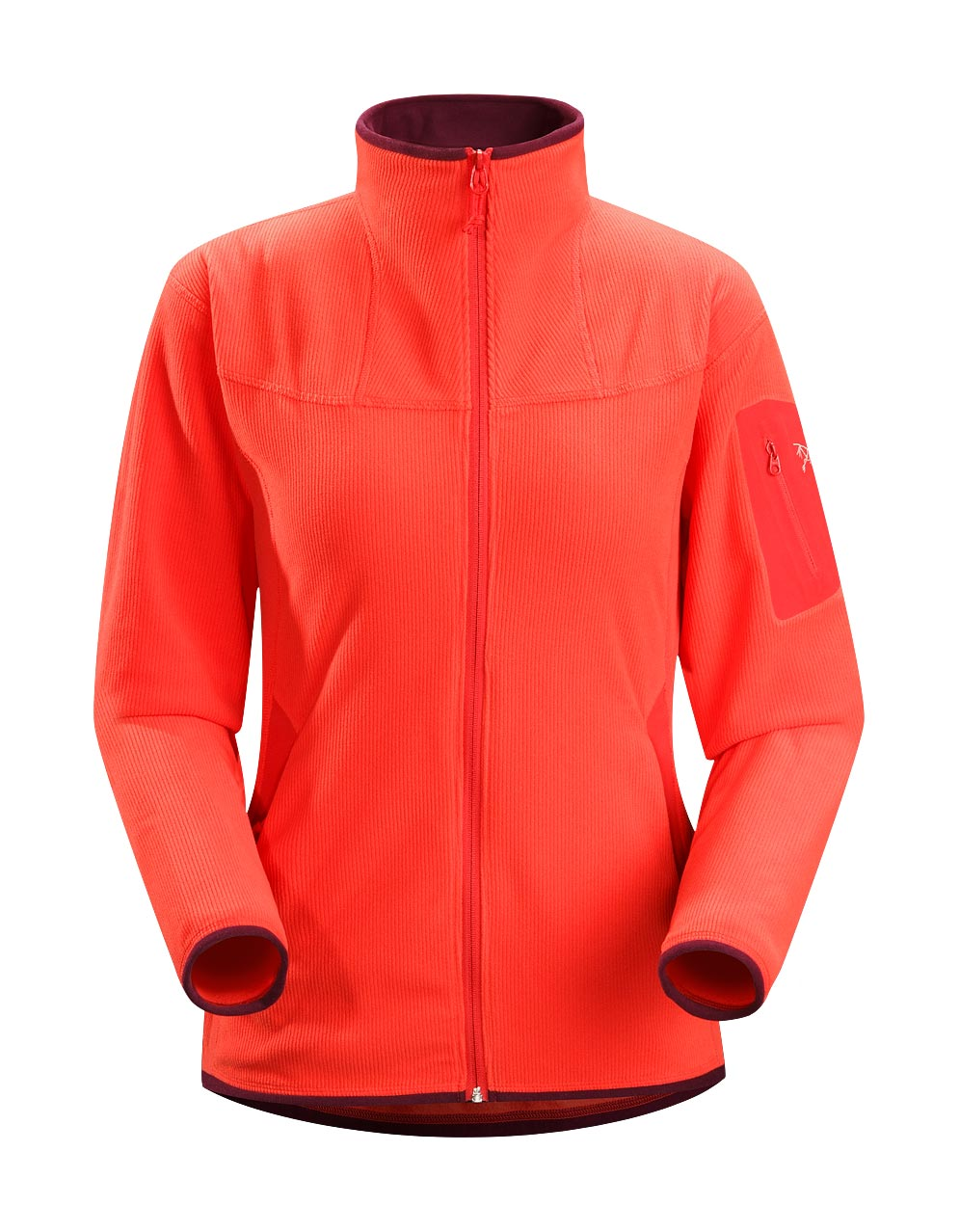 Arcteryx Women Autumn Coral Caliber Cardigan