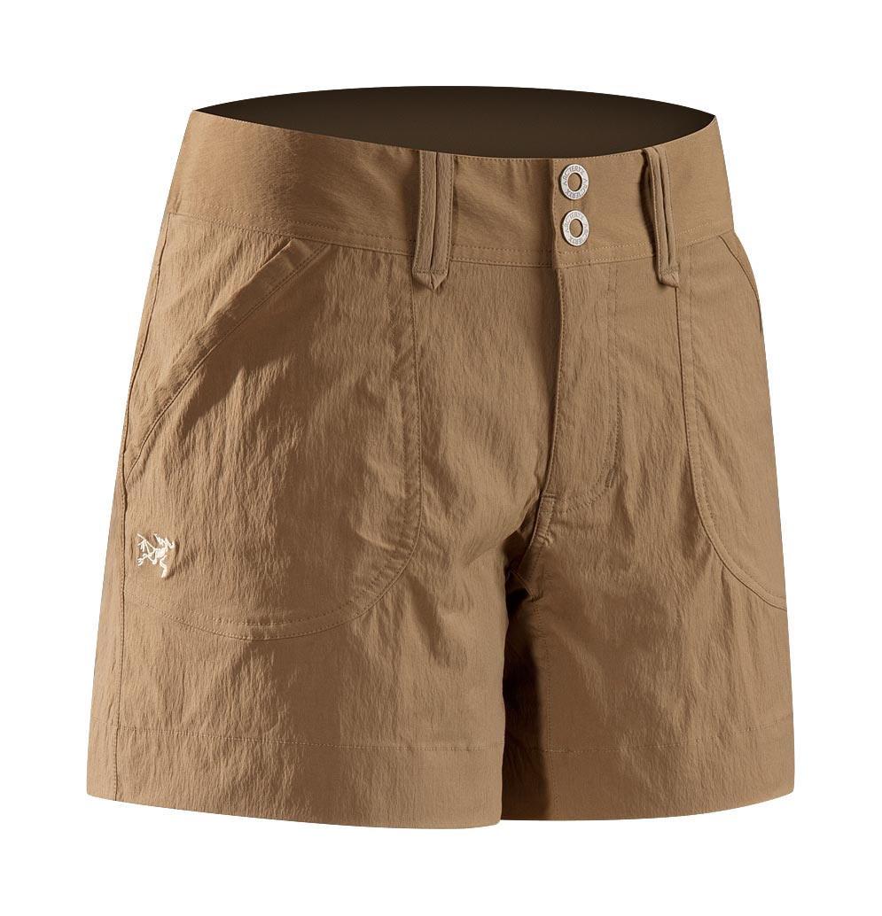 Arcteryx Women Nubian Brown Parapet Short - New