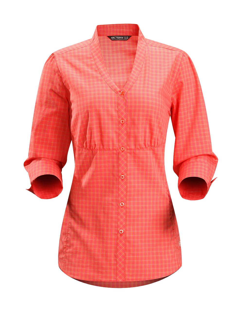 Arcteryx Women Autumn Coral Destina Shirt LS
