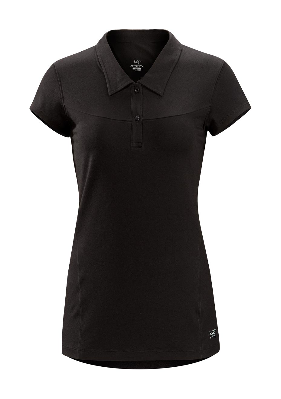 Arcteryx Women Black Motive Polo SS