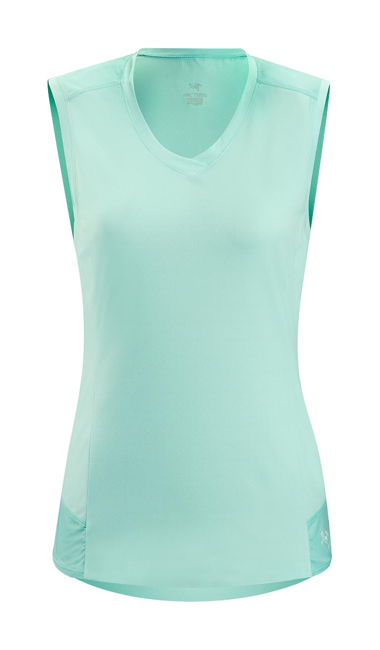 Arcteryx Women Blue Opal Mentum Comp Sleeveless