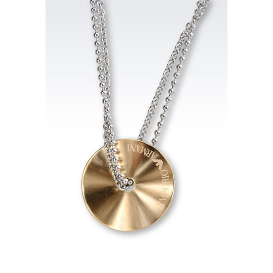 ARMANI NECKLACE IN GOLD-PLATED STEEL
