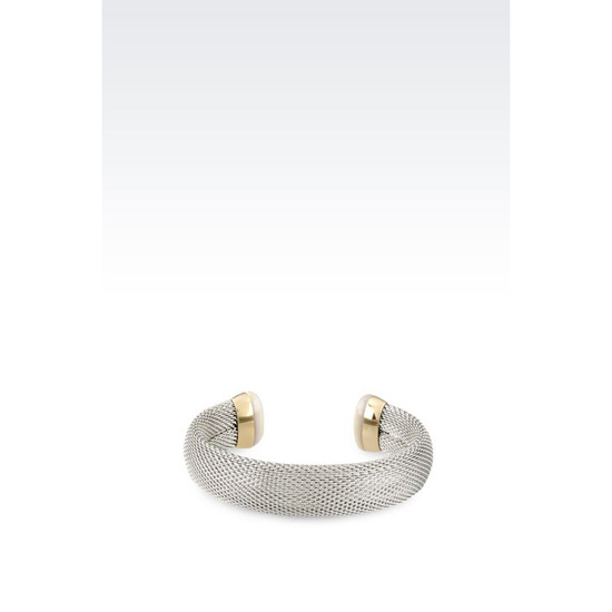 ARMANI BRACELET IN GOLD-PLATED STEEL AND MOTHER-OF-PEARL