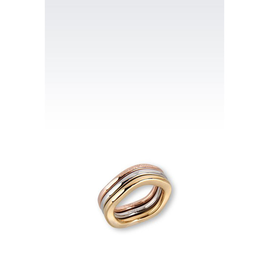 ARMANI RING IN GOLD-PLATED STEEL