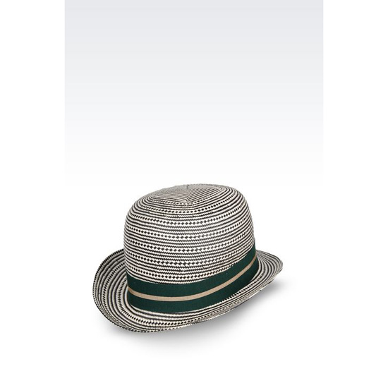 ARMANI TWO-COLOUR NARROW-BRIMMED HAT