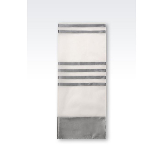 ARMANI WRAP IN STRIPED SILK BLEND