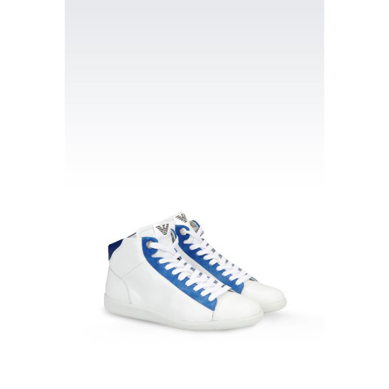 ARMANI HIGH TOP SNEAKER IN CALFSKIN