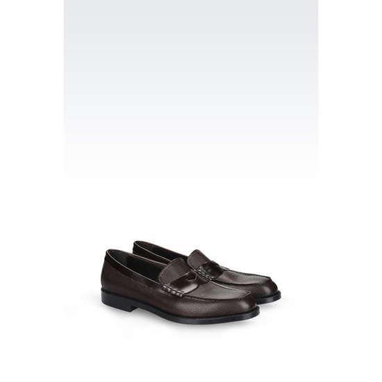 ARMANI LOAFER IN BRUSHED CALFSKIN