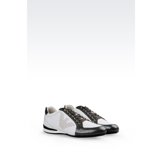 ARMANI SNEAKER IN CALFSKIN WITH LOGO