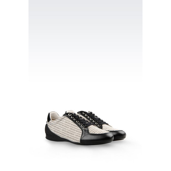 ARMANI SNEAKER IN BRANDED FABRIC