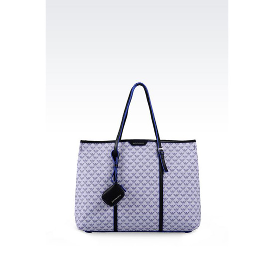 ARMANI SHOPPING BAG IN LOGO PATTERNED PVC