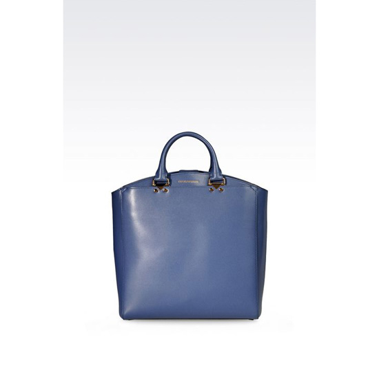 ARMANI TOTE BAG IN BOARDED CALFSKIN