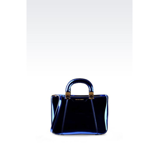 ARMANI HANDBAG WITH LAMINATED EFFECT