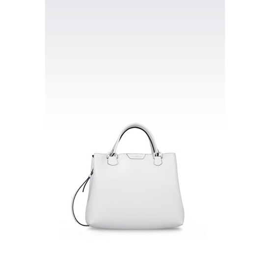 ARMANI SHOPPING BAG IN SAFFIANO CALFSKIN