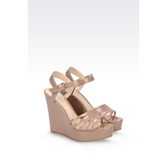 ARMANI WEDGE SANDAL IN PATENT