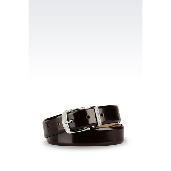 ARMANI BELT IN BRUSHED CALFSKIN