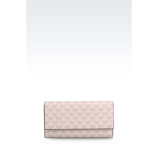 ARMANI BUTTON WALLET IN LOGOED PVC