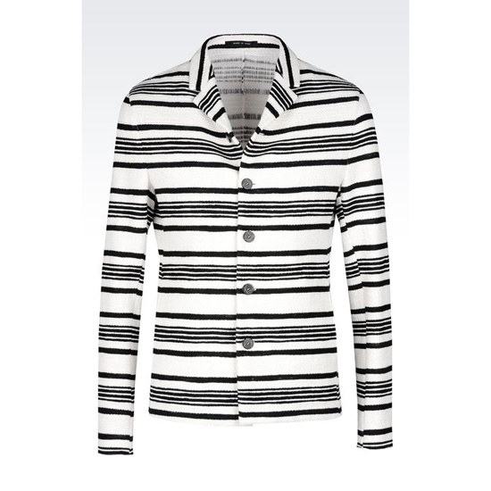 ARMANI RUNWAY JACKET IN STRIPED COTTON