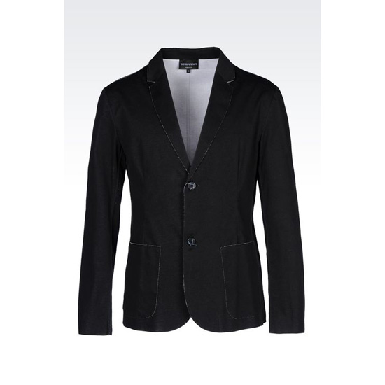ARMANI RUNWAY JACKET IN RAW CUT COTTON