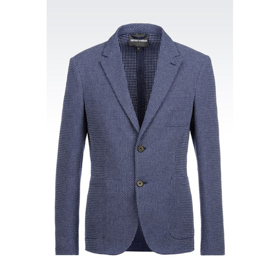 ARMANI JACKET IN MICRO JACQUARD COTTON