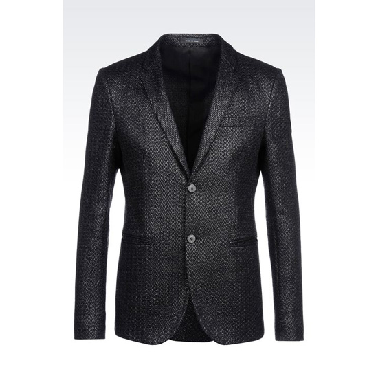 ARMANI JACKET IN RAFFIA MESH