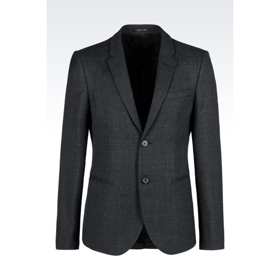 ARMANI JACKET IN BASKETWEAVE EFFECT WOOL