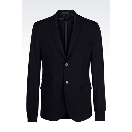 ARMANI JACKET IN STRETCH WOOL