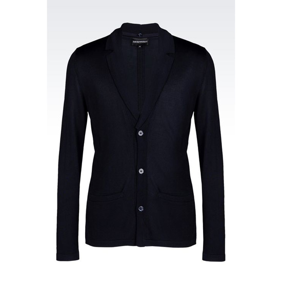 ARMANI JACKET IN VISCOSE BLEND WITH DETACHABLE LAPELS