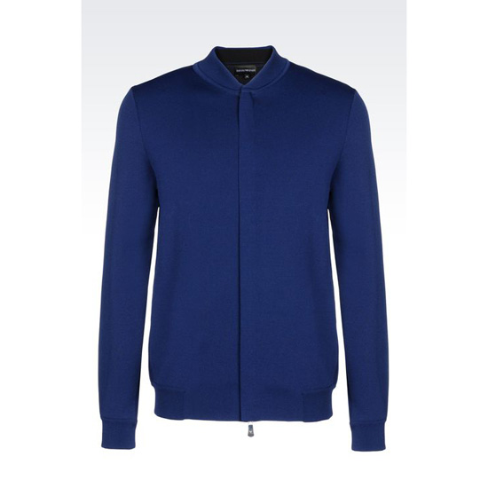 ARMANI FULL ZIP BLOUSON IN VISCOSE BLEND