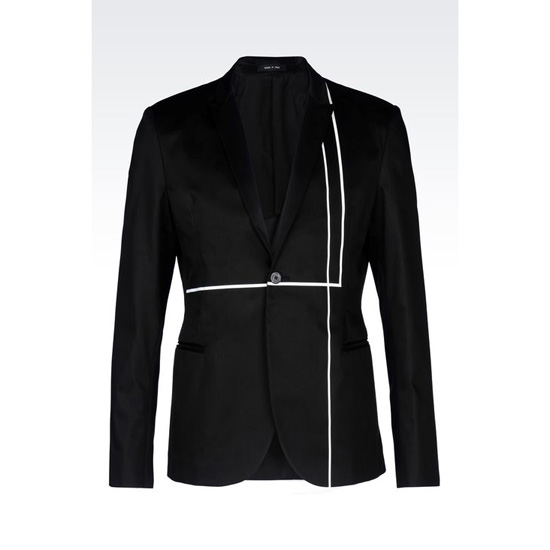 ARMANI RUNWAY JACKET IN COTTON SATIN
