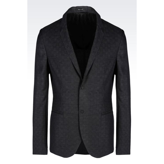 ARMANI JACKET IN JACQUARD WOOL