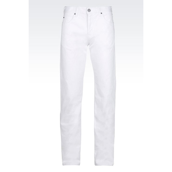 ARMANI REGULAR FIT 5-POCKET TROUSERS IN COMFORT GABARDINE