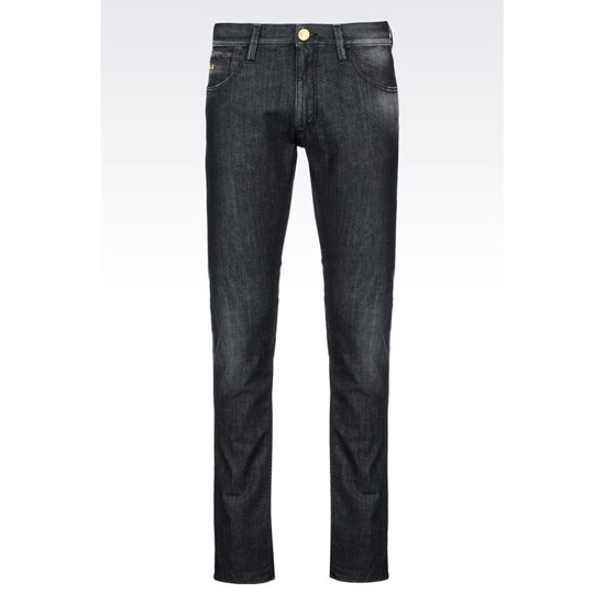 ARMANI SLIM FIT BLACK WASH JEANS