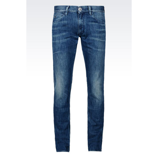 ARMANI SLIM FIT MEDIUM VINTAGE WASH JEANS