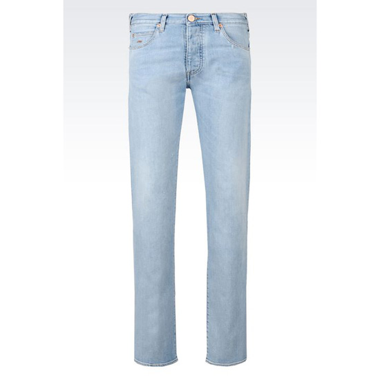 ARMANI SLIM FIT LIGHT WASH JEANS