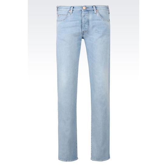 ARMANI REGULAR FIT MEDIUM VINTAGE WASH JEANS