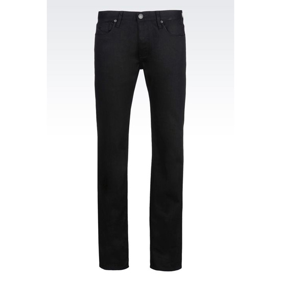 ARMANI REGULAR FIT BLACK WASH JEANS