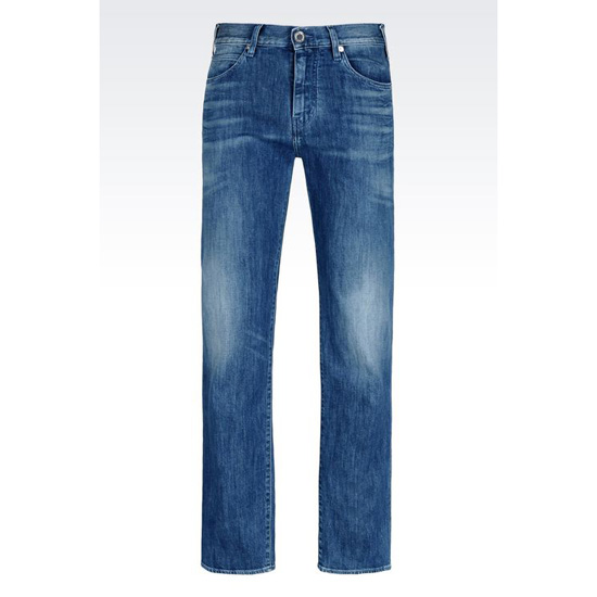 ARMANI REGULAR FIT MEDIUM WASH JEANS