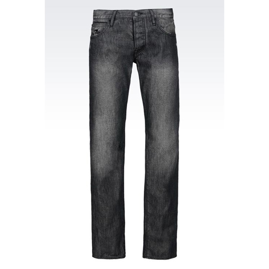ARMANI REGULAR FIT DARK WASH JEANS