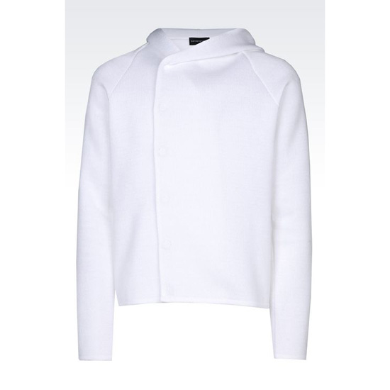 ARMANI RUNWAY HOODED COTTON SWEATER