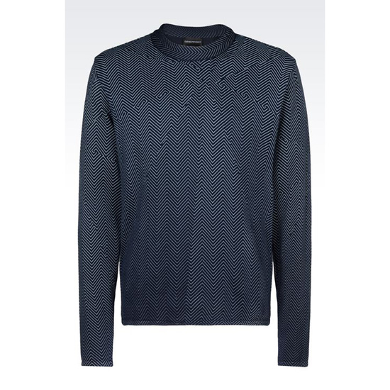 ARMANI SWEATER IN STOCKINETTE COTTON
