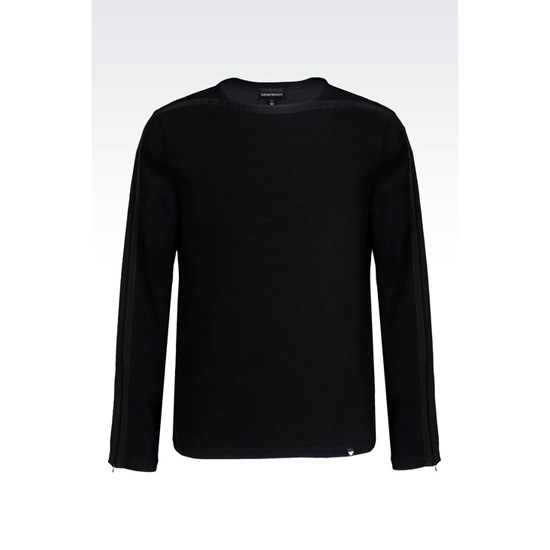 ARMANI OTTOMAN SWEATER IN COTTON BLEND