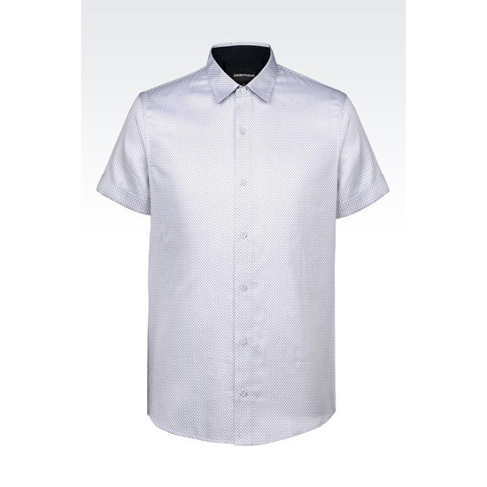 ARMANI SHIRT IN PRINTED COTTON