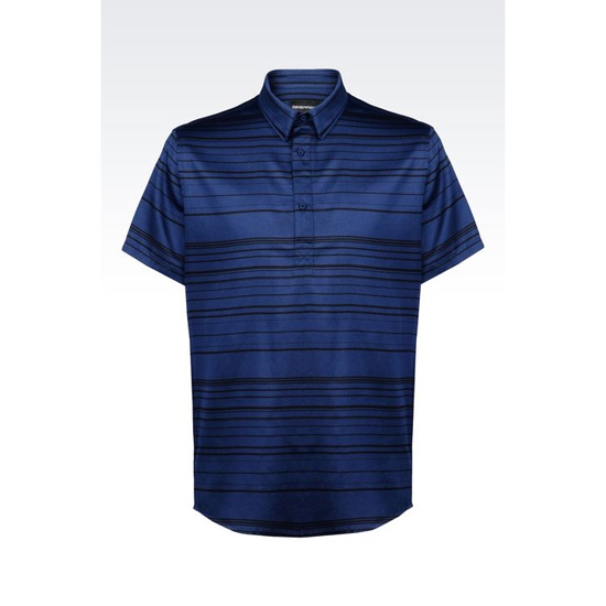 ARMANI SHIRT IN STRIPED COTTON