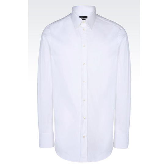 ARMANI REGULAR FIT COTTON POPLIN SHIRT